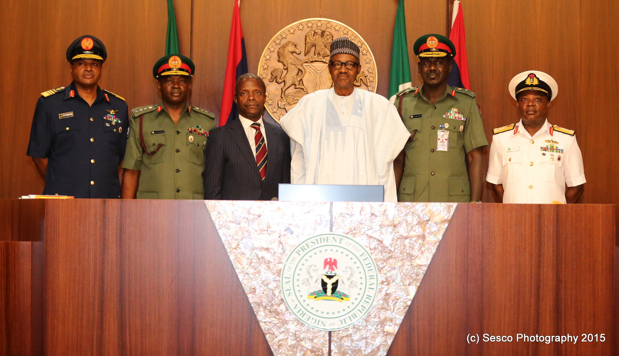 VP Osinbajo At The Swearing-In And Decoration Of Service Chiefs Ceremony On 13/08/2015