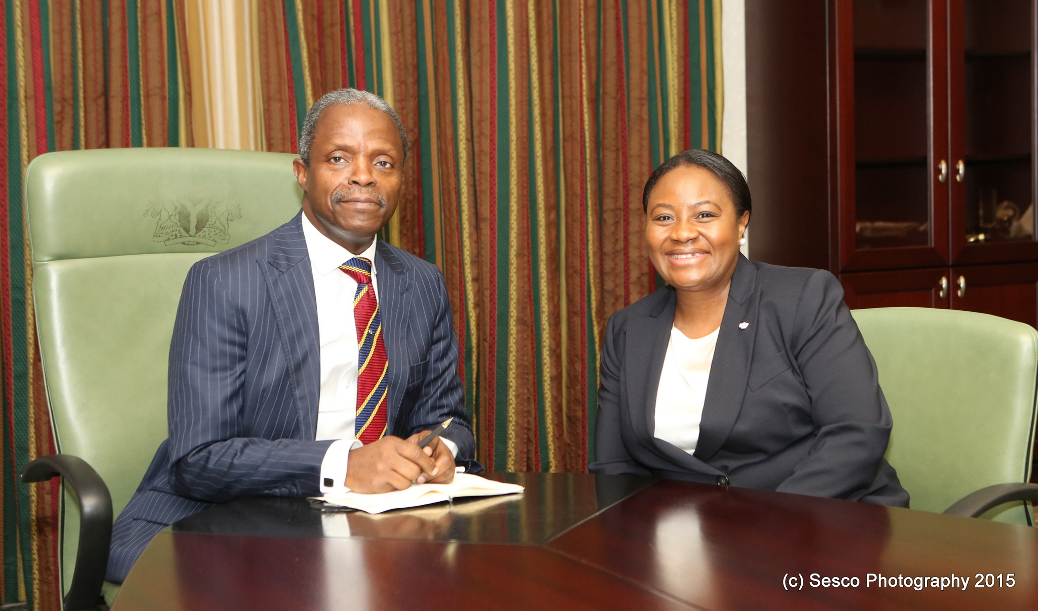 VP Osinbajo Meets Pst. Tomi Somefun MD/CEO Unity Bank On 13/08/2015