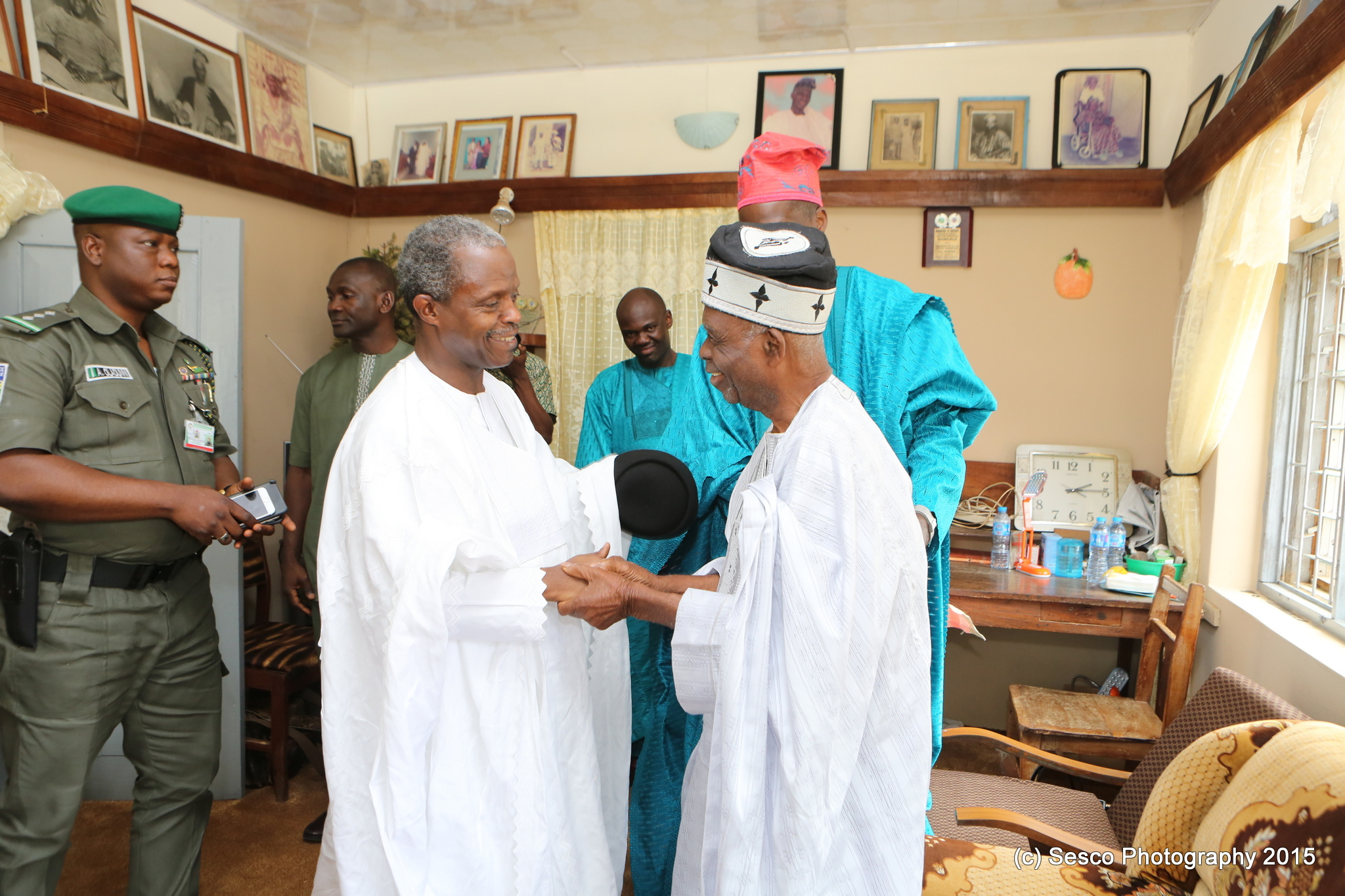 VP Osinbajo Attends Burial Ceremony Of The Late Ooni Of Ife, Oba Okunade Sijuwade In Ilara-mokin Ondo State On 15/08/2015