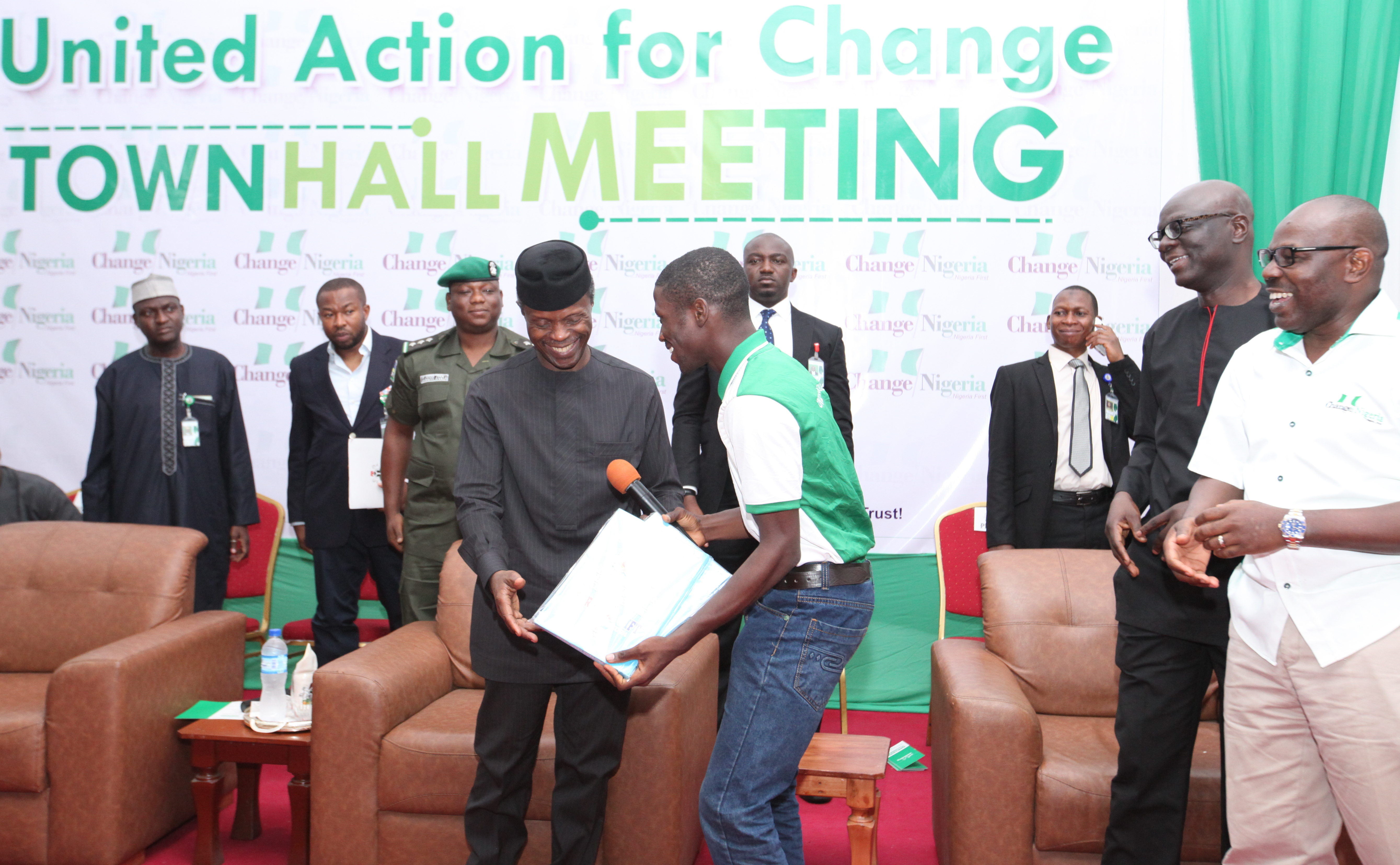 VP Osinbajo Attends The United Action For Change TownHall Meeting #UACmeetsOsinbajo On 23/04/2016