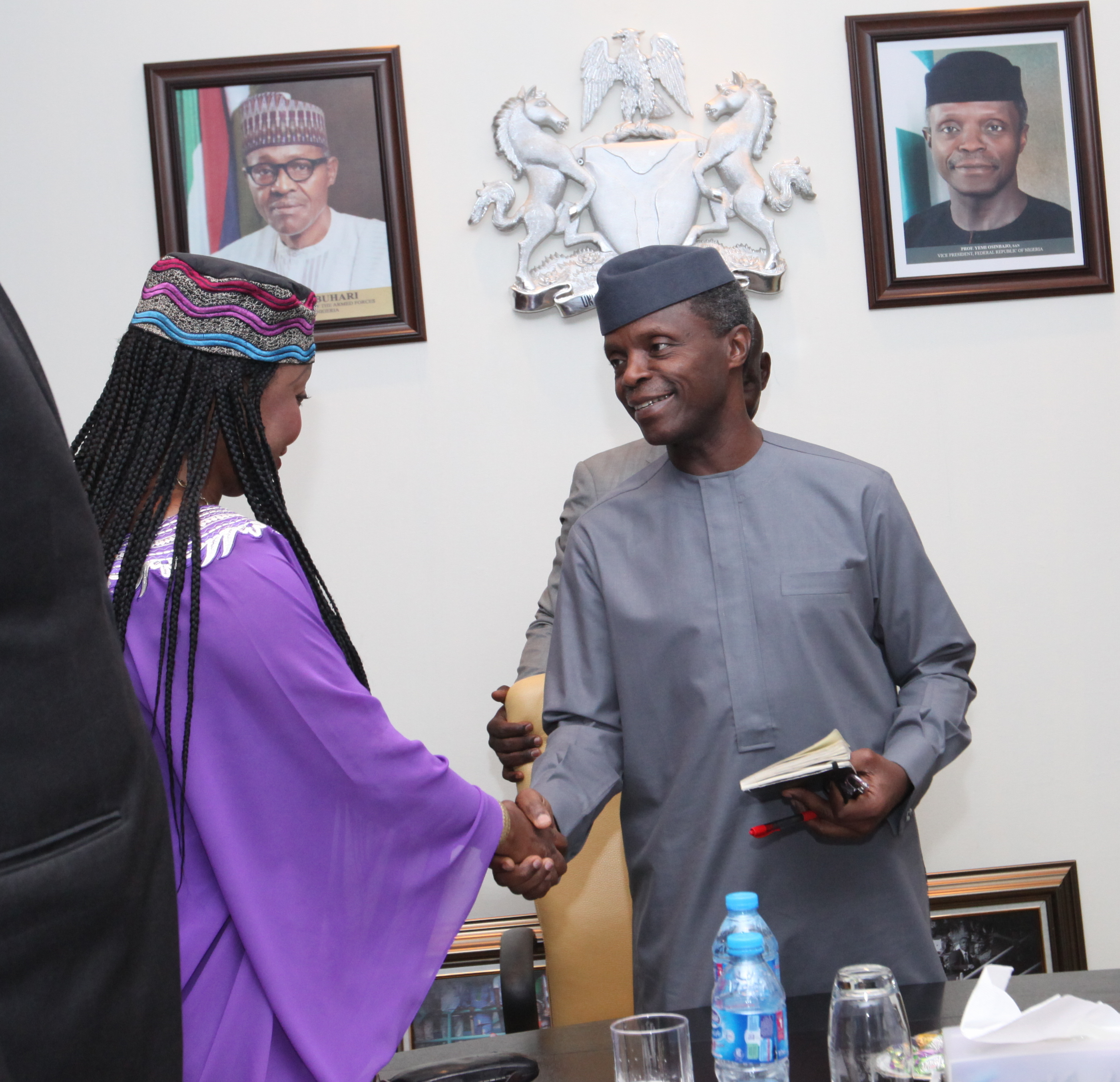 VP Osinbajo Meets With Ms. Fatima Samoura – Resident Rep. Humanitarian Coordinator & UNDP Resident Rep. To Nigeria On 25/04/2016