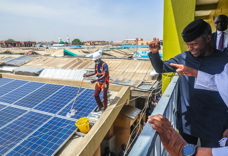 VP Osinbajo Inaugurates FG's Solar Project At Sabon Gari Market, Launches Kano MSMEs Clinics & Interacts With SIP Beneficiaries