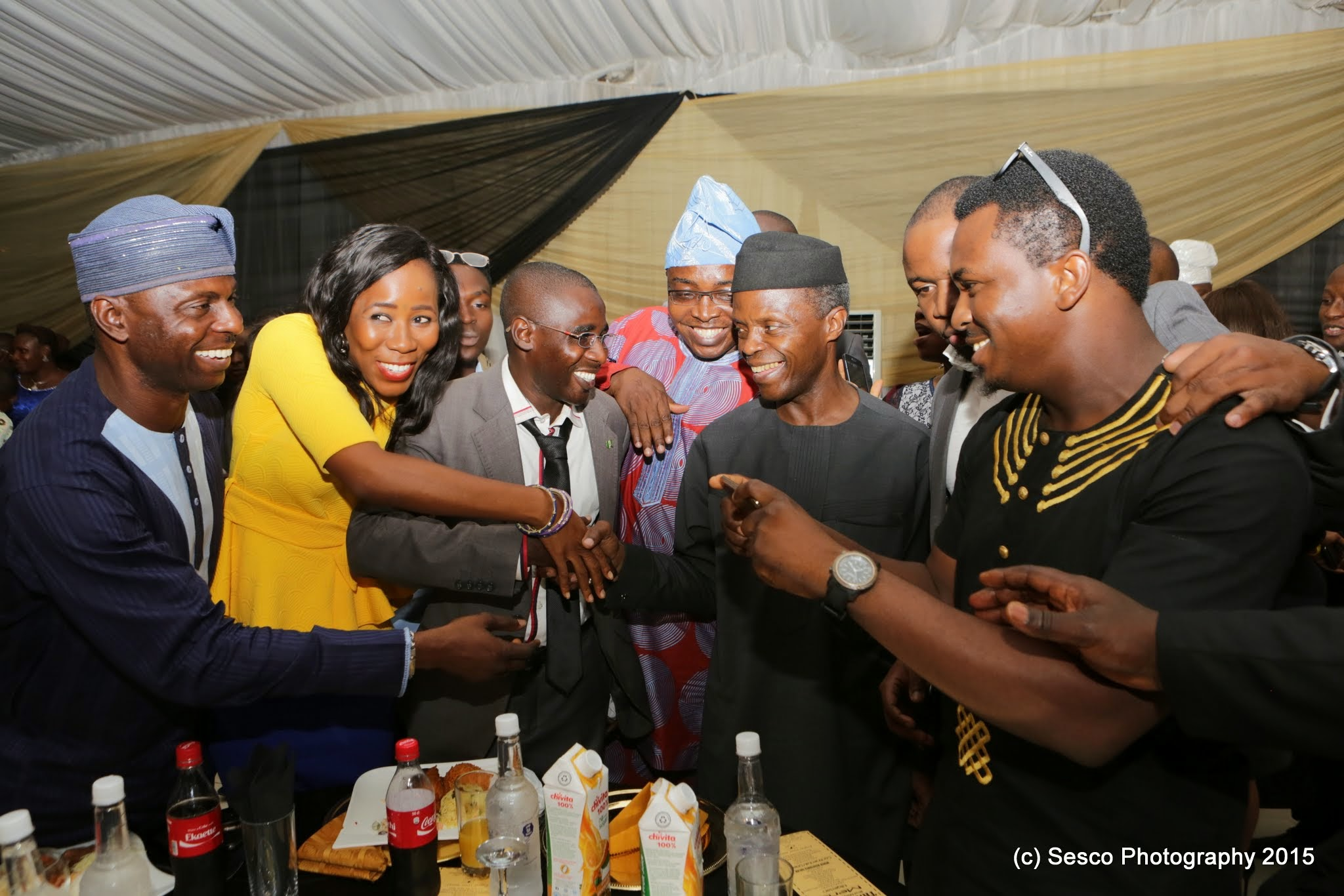VP Osinbajo Attends The Campaign Volunteers Thank You Dinner On 02/05/2015