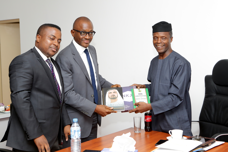 VP Osinbajo Meets With Osaro Eghobamien (SAN) And Tolulope Aderemi On 07/05/2015