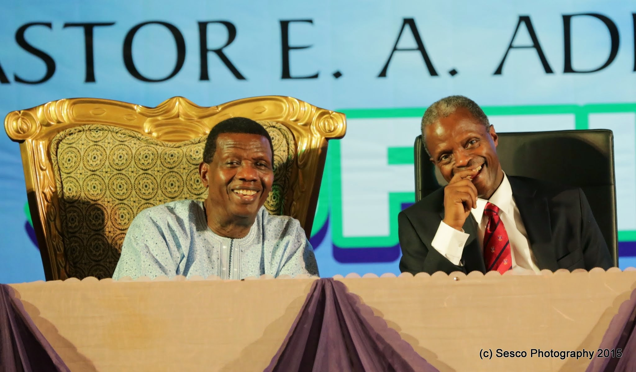 VP Osinbajo At A Day Out With The God Of Daddy G.O, Pastor E.A. Adeboye On 10/05/2015