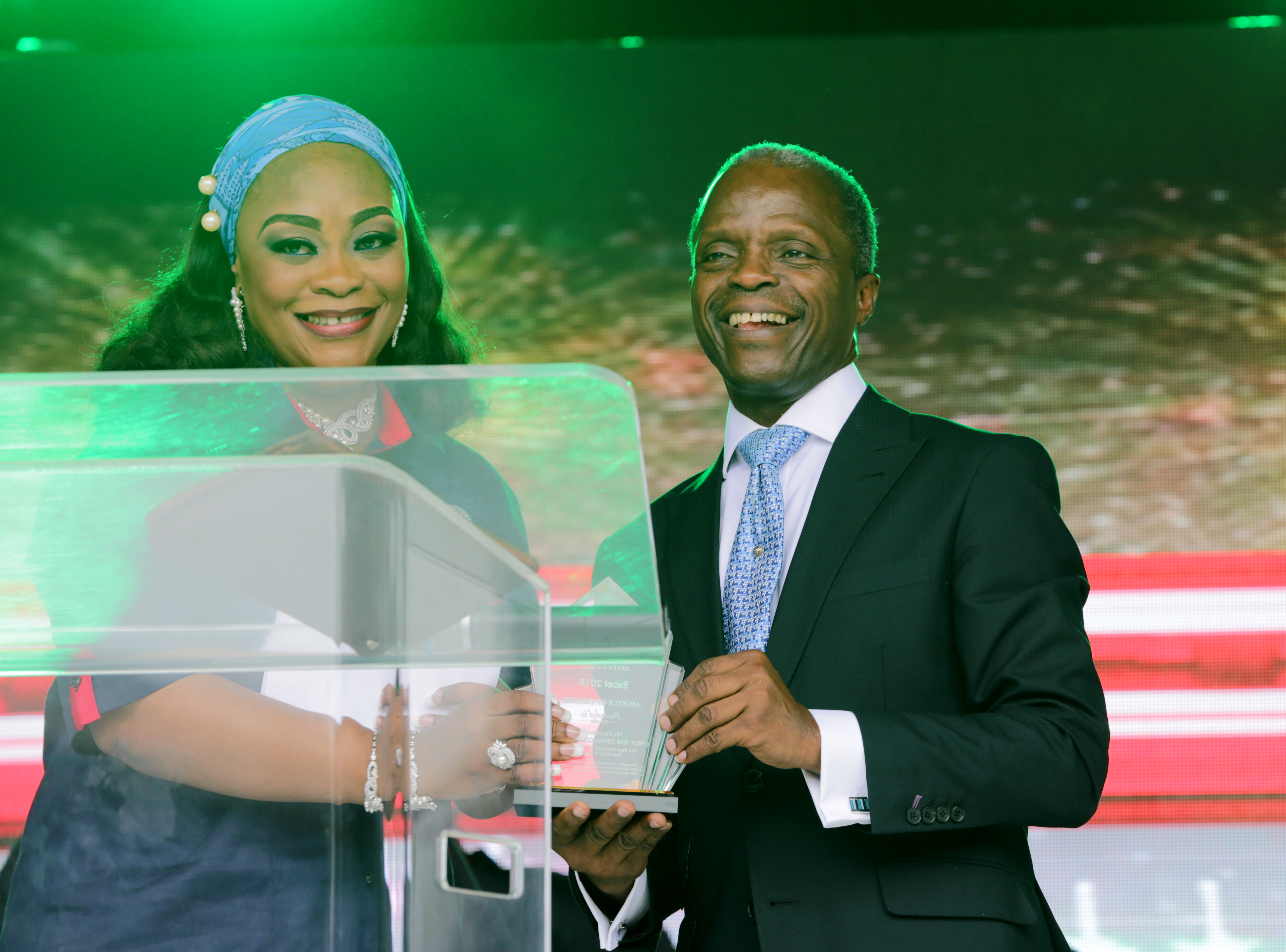 VP Osinbajo And Wife At EXCEL 2015 RCCG Apapa Family On 07/06/2015