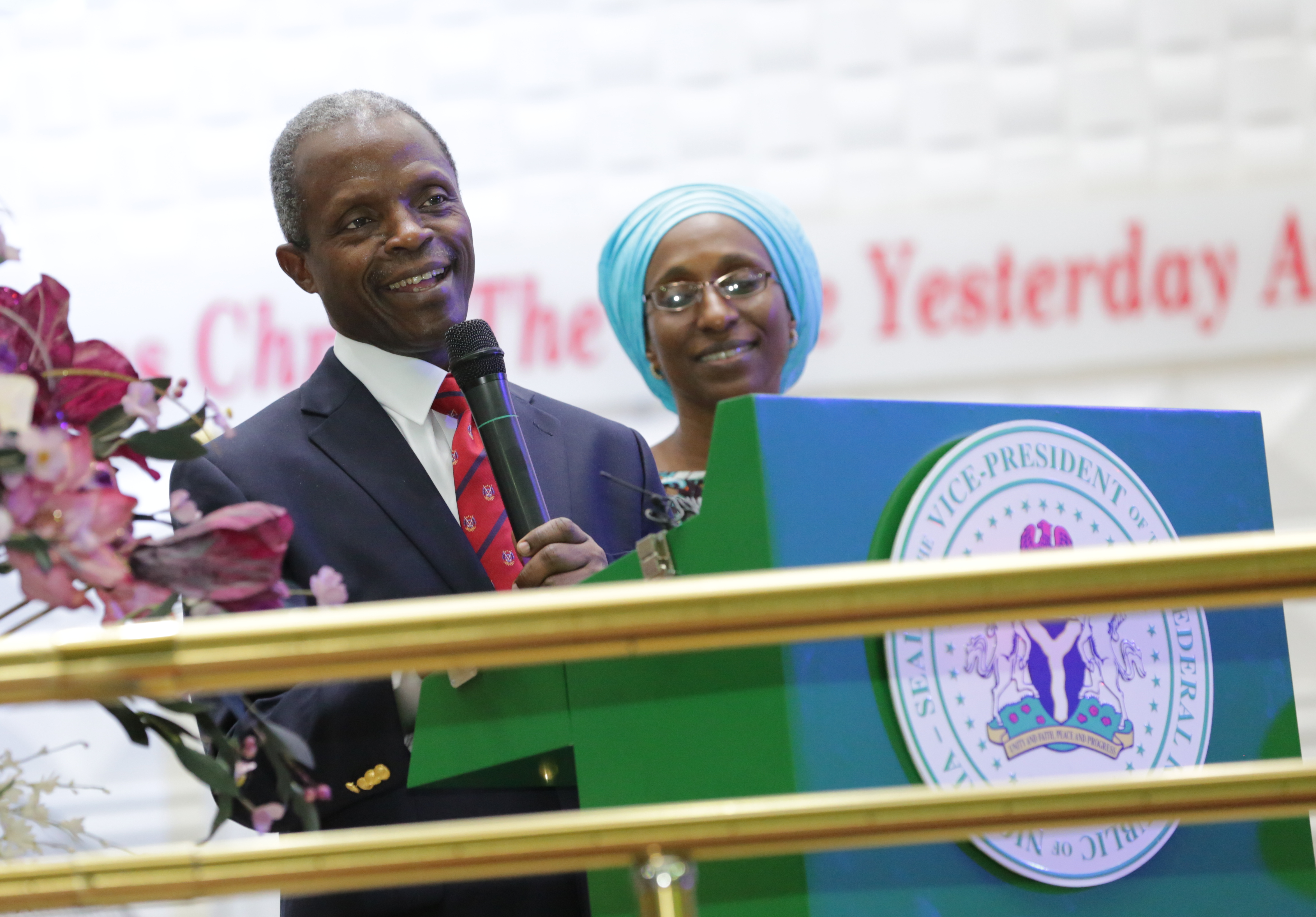 VP Osinbajo And Wife Attend The Special Welcome & Thanksgiving Service In His Honour On 08/06/2015