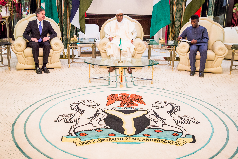 VP Osinbajo In Attendance As President Buhari Receives The USA Delegation On 08/07/2015