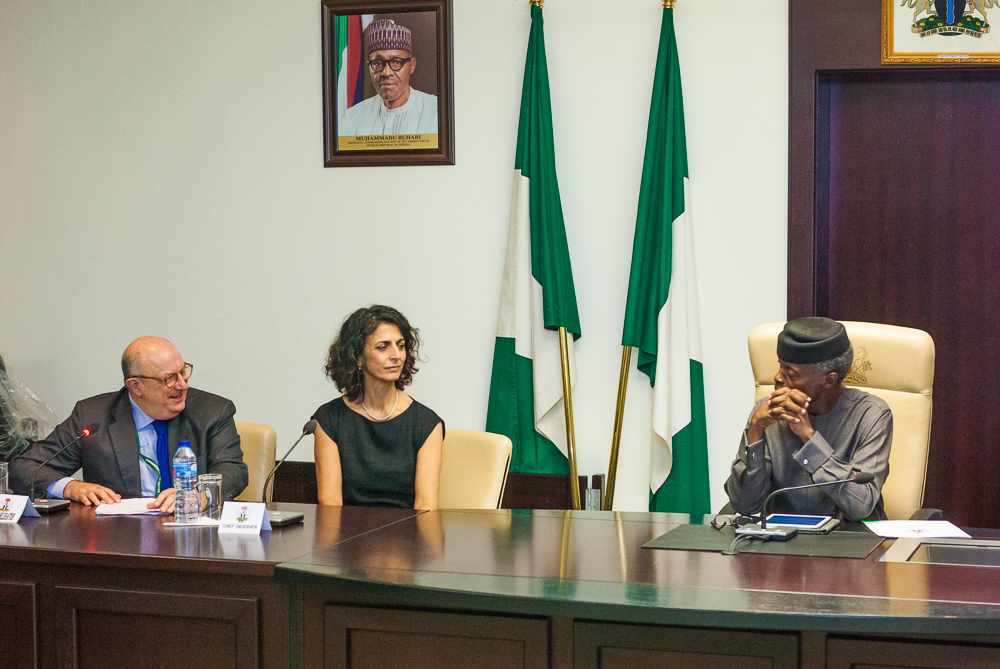 VP Osinbajo Receives Members Of EU Observer Mission For Feb. 2019 Polls On 14/02/2019