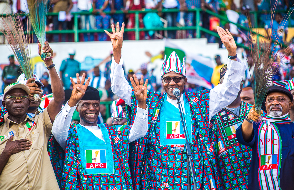 VP Osinbajo Accompanies President Buhari To National Campaign In Lagos On 09/02/2019