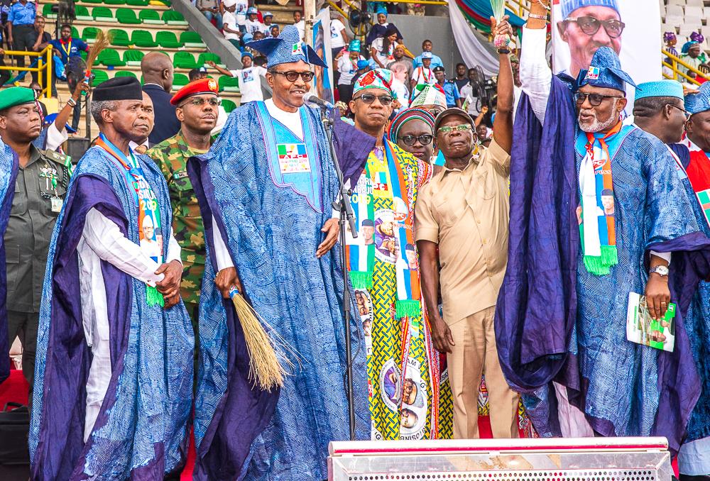 VP Osinbajo & President Buhari Attend APC Presidential Campaign In Ogun State On 11/02/2019