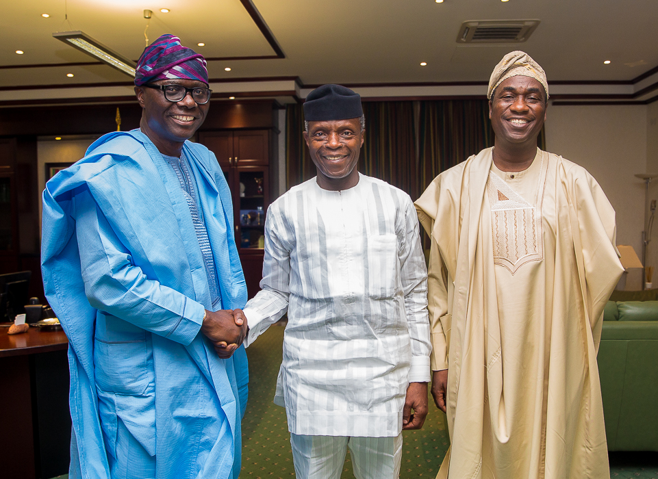 VP Osinbajo Receives Governor And Deputy Governor Elect Of Lagos, Babajide Sanwoolu And Femi Hamzat On 18/03/2019