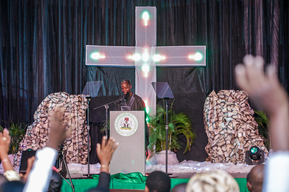 VP Osinbajo & Wife, Attend Special Thanksgiving Service At Banquet Hall, State House On 31/03/2019