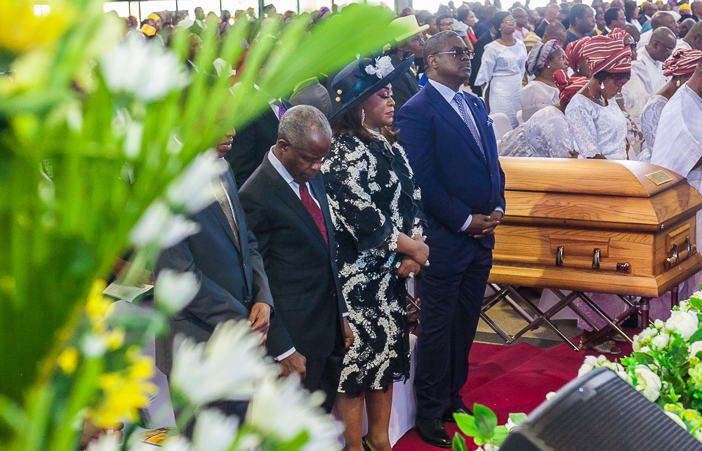 VP Osinbajo Attends Funeral Service Of Pastor Adetokunbo Olorunnimbe  On 09/04/2019