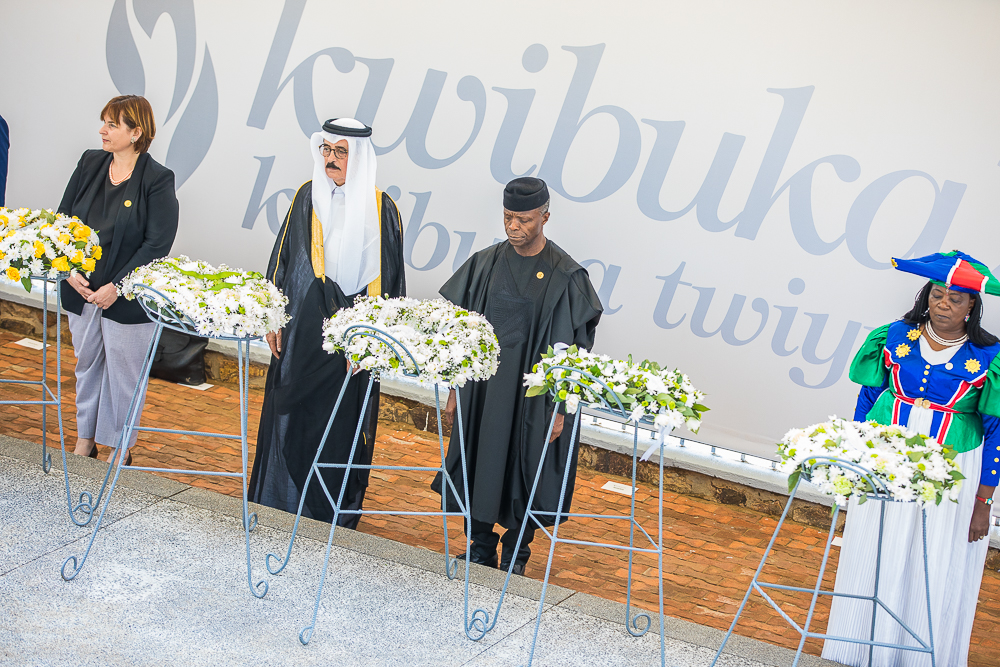 VP Osinbajo Attends 25th National Commemoration Of Rwandan Genocide In Kigali On 07/04/2019