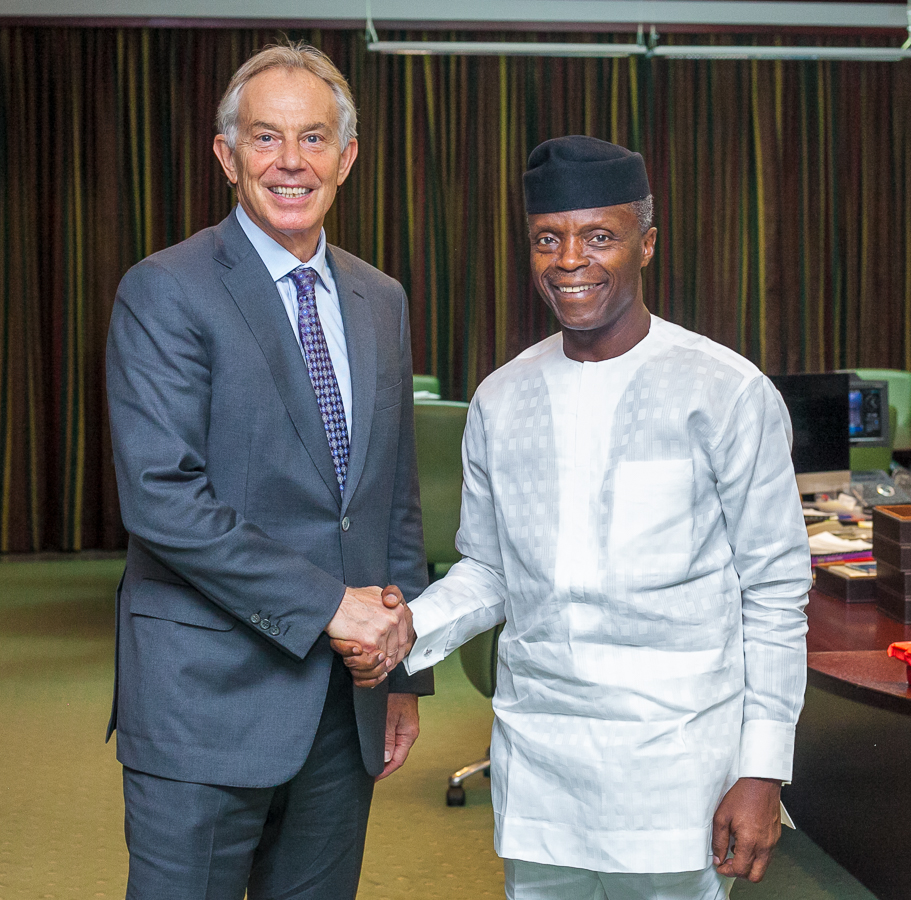 VP Osinbajo Receives Delegation From the Tony Blair Institute for Global Change On 05/04/2019