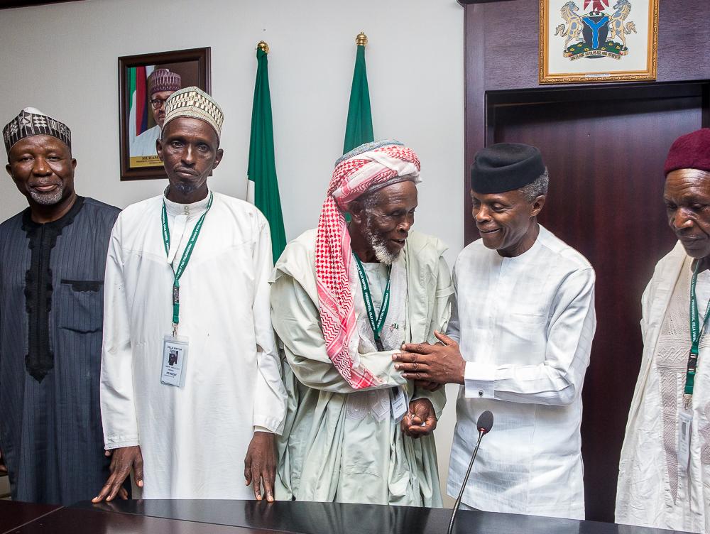 VP Osinbajo Meets With Imam Abdullahi Abubakar On 30/05/2019