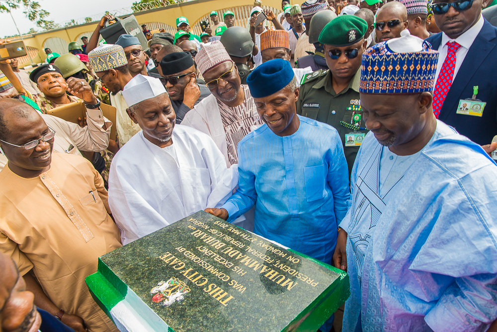 VP Osinbajo Commissions Several Projects In Gombe State On 27/05/2019