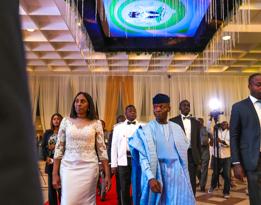 VP Osinbajo And Wife Attends Presidential Inauguration Dinner On 29/05/2019