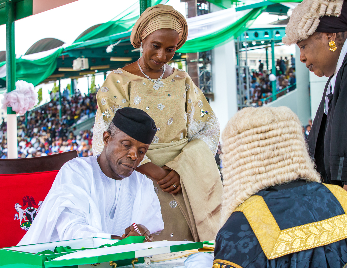 VP Osinbajo Attends Swearing In Ceremony Into Office Of Vice President On 29/05/2019