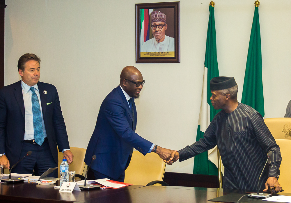 VP Osinbajo receives A Delegation Of Global Citizens On 21/06/2019