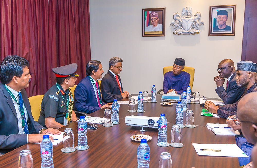 VP Osinbajo Receives High Commissioner Of India To Nigeria, H.E. Abhay Thakur On 06/06/2019