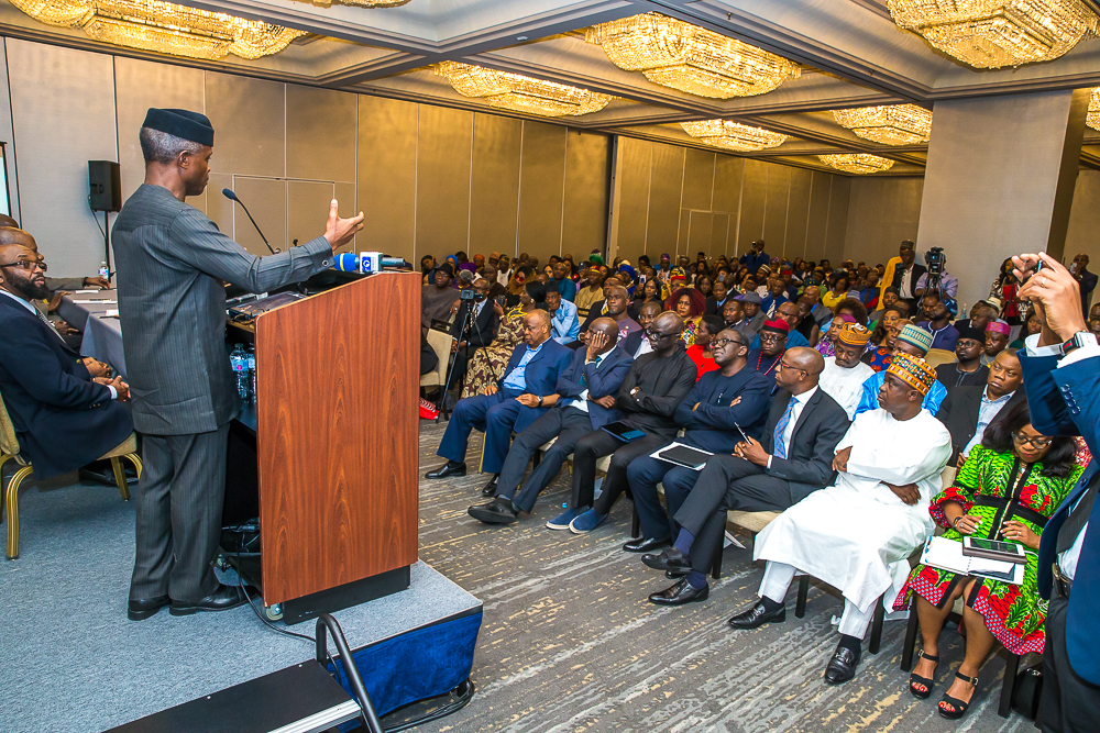 VP Interacts With Nigerian Community In New York, United States On 23/06/2019
