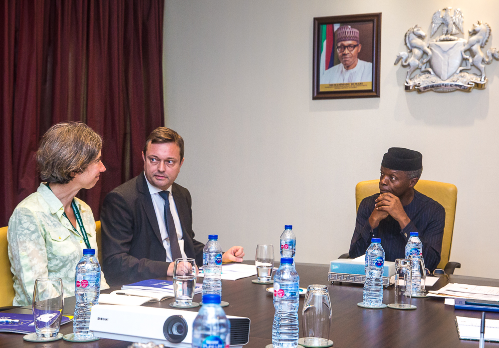 VP Osinbajo Receives European Union Delegates Led By Head Of Union, Mr Ketil Karsen On 13/06/2019