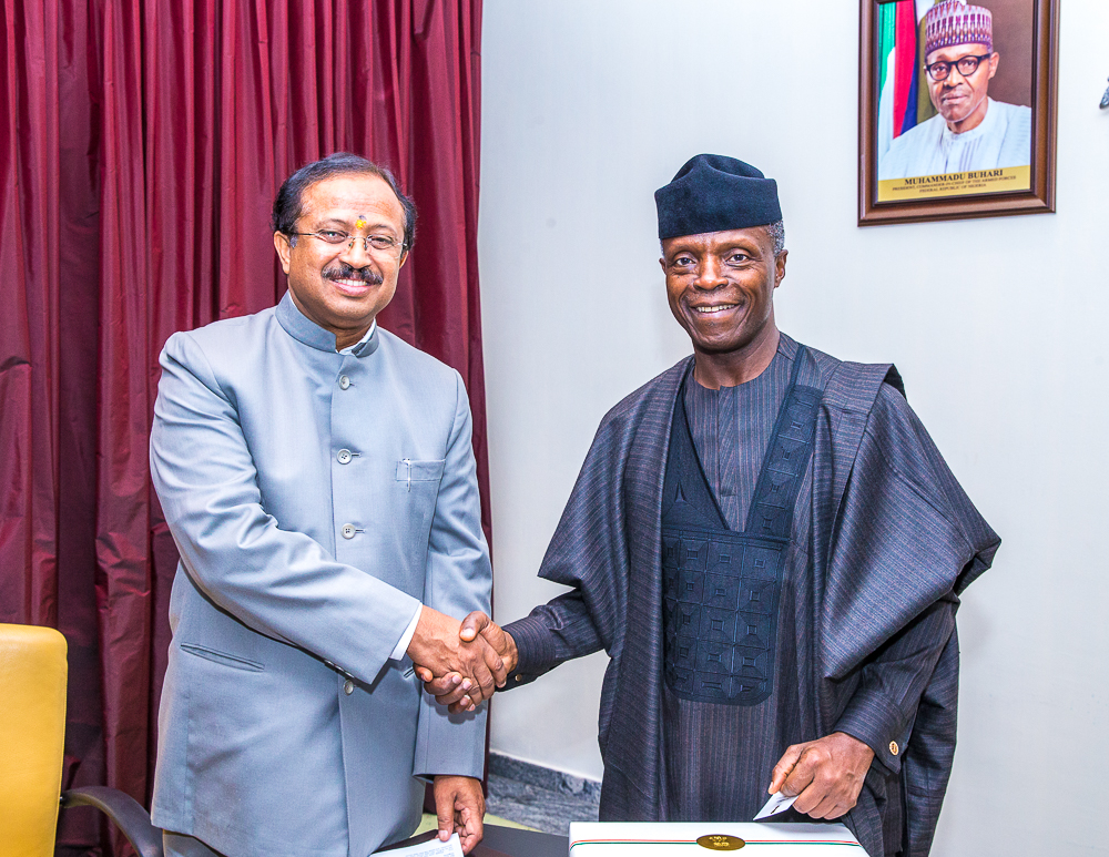 VP Osinbajo Receives Mr. V. Muraleedharan, Min. Of State For External & Parliamentary Affairs, Government Of India On 12/06/2019
