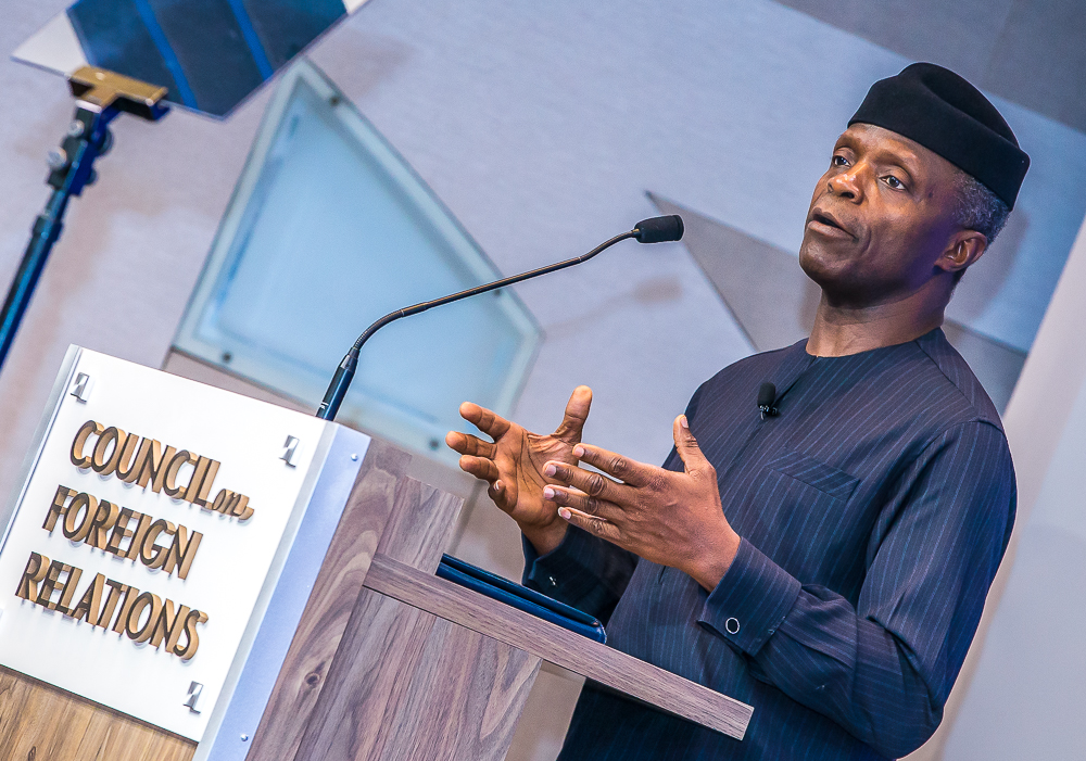 VP Osinbajo Speaks On Nigeria's Economy Prospects At The Council on Foreign Relations, CFR On 24/06/2019