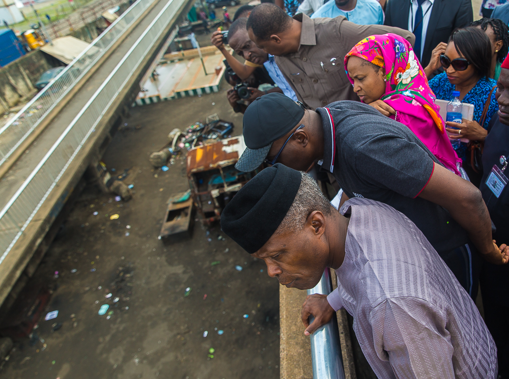VP Osinbajo Inspects Progress Of Ongoing Work To Clear Apapa Gridlock On 22/06/2019