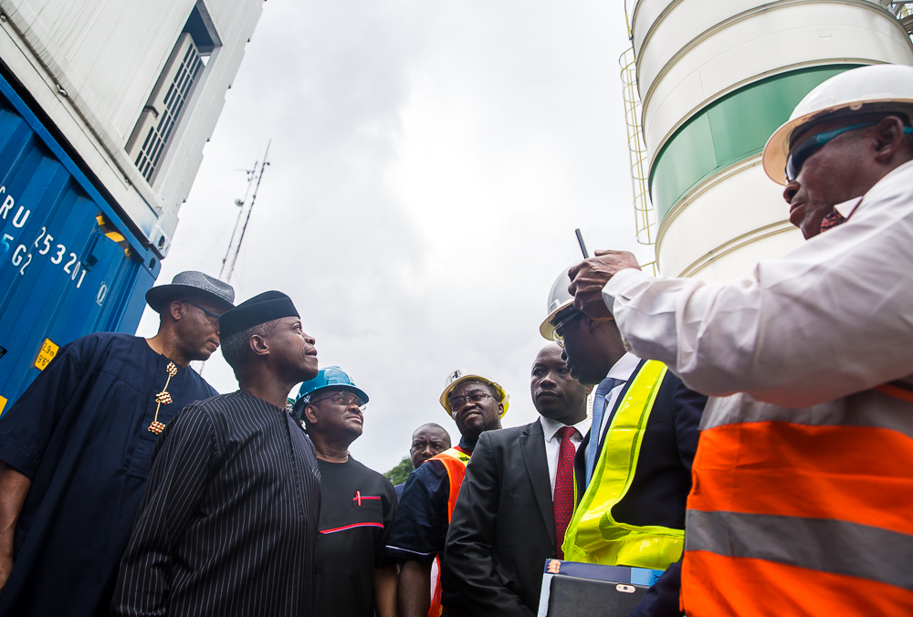 VP Osinbajo Commissions Liquid Waste Treatment Plant In Port-Harcourt On 21/06/2019