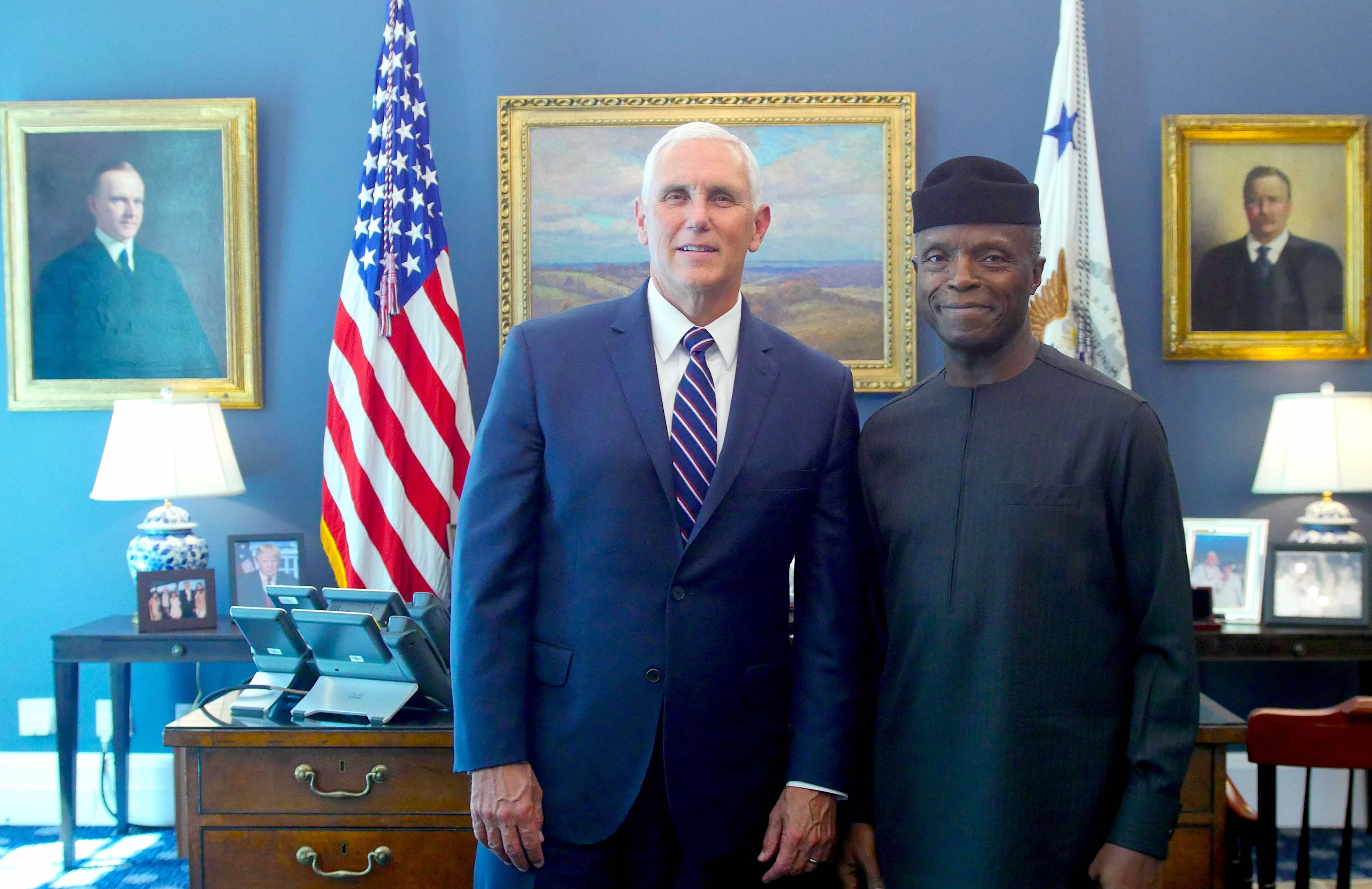 Economy, Military Assistance, Countering Extremism & Terrorism In Focus At Osinbajo – Pence White House Meeting