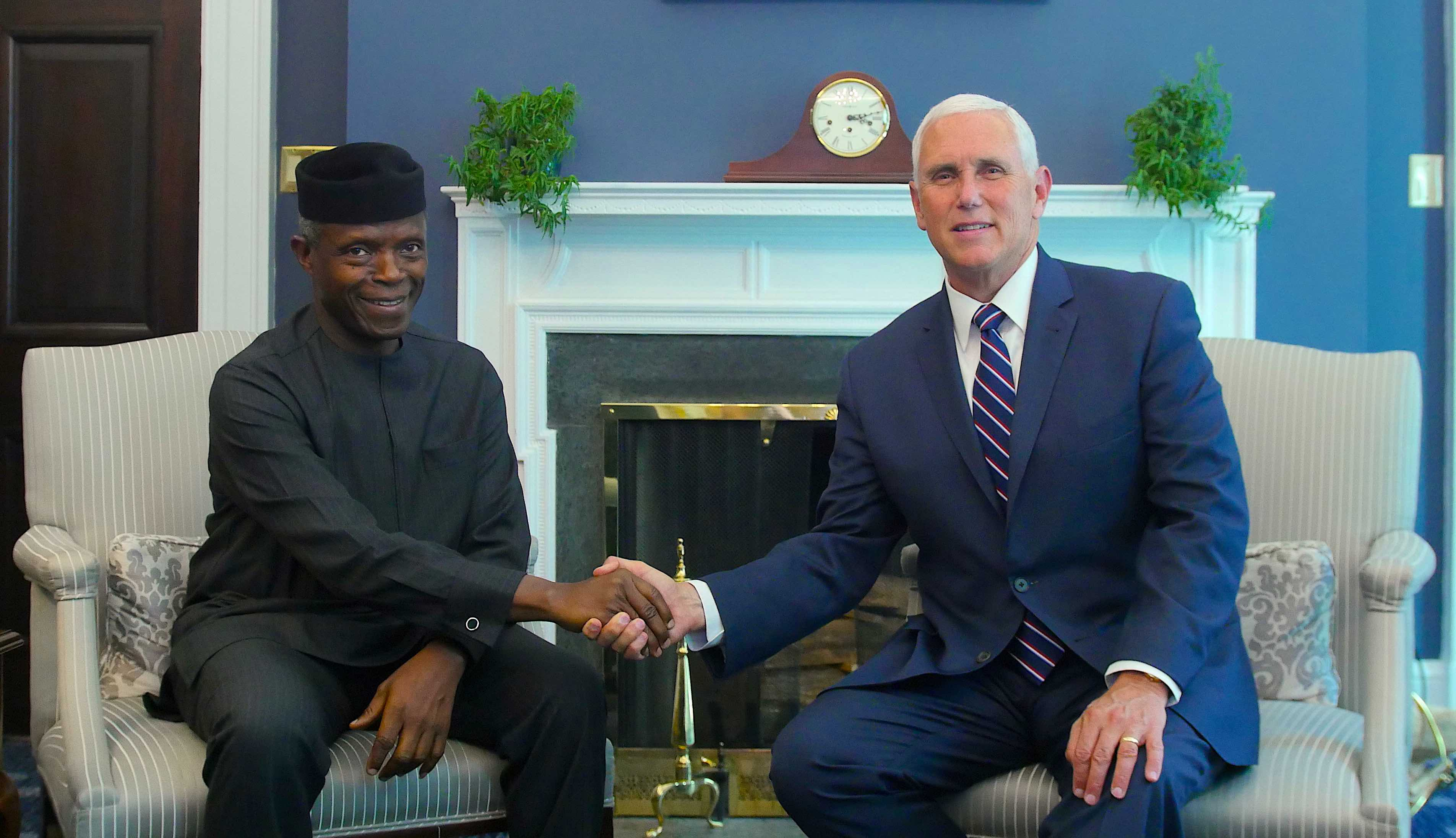 VP Osinbajo Received At The White House By American VP, Mike Pence On 26/06/2019