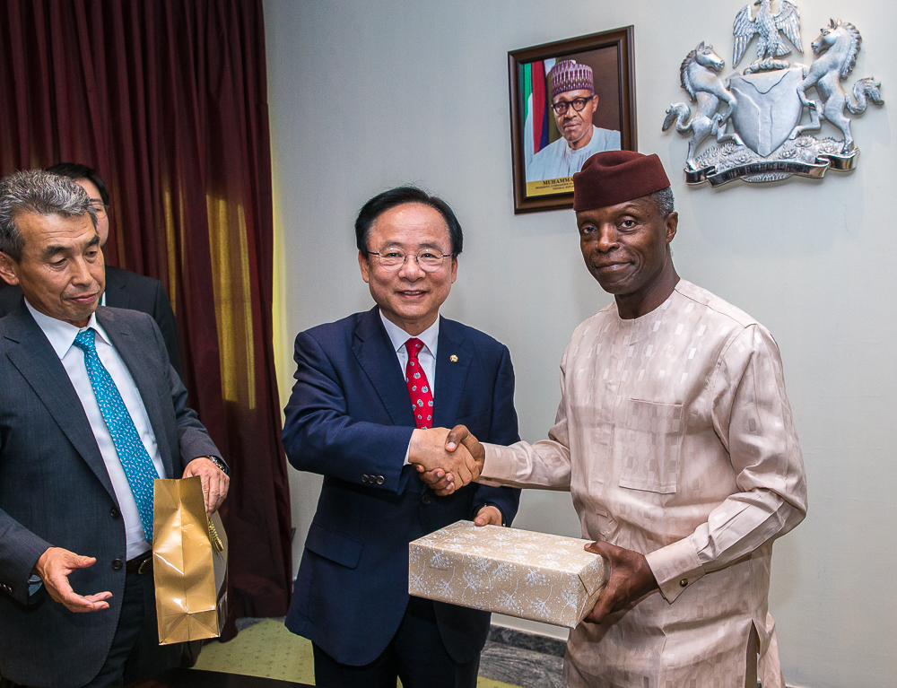 VP Osinbajo Receives Delegation From Korean National Assembly At Presidential Villa On 31/05/2019