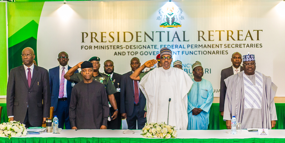 VP Osinbajo Attends Day 1 Of Ministerial Retreat For Incoming Ministers On 19/08/2019