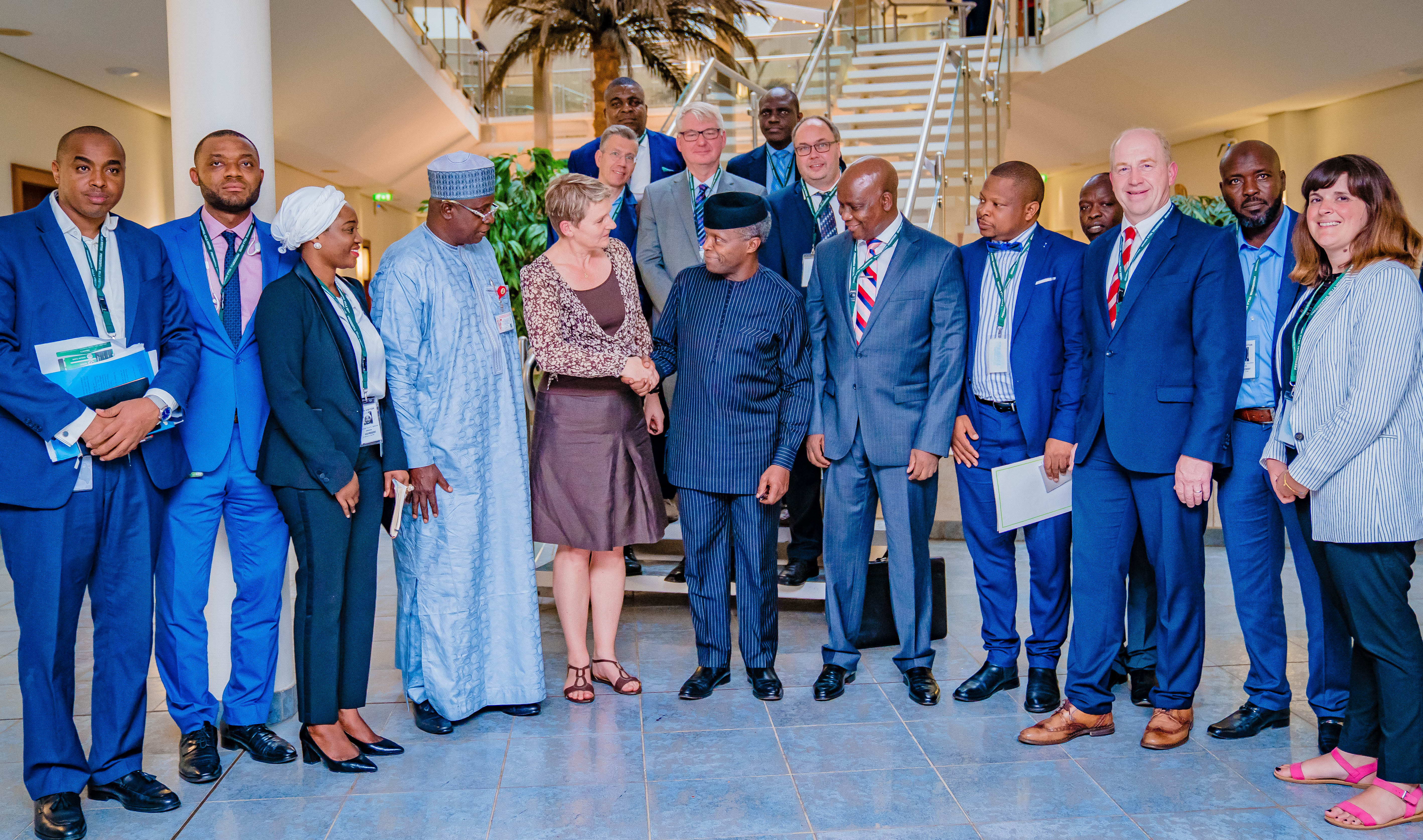 VP Osinbajo Receives German Agri-Business Alliance, Led By MD NIRSAL, Mr. Aliyu Abbati On 21/08/2019