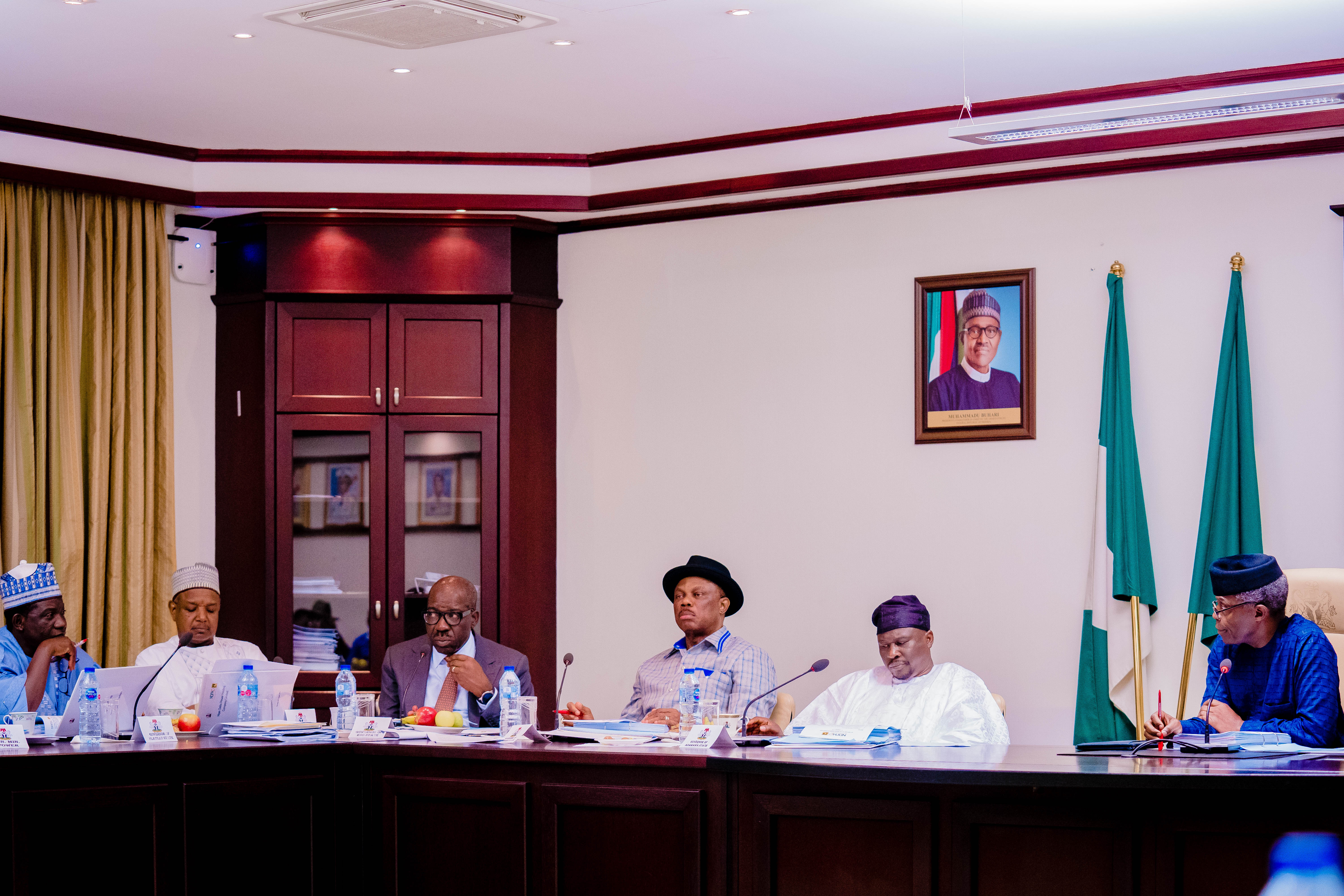VP Osinbajo Presides Over Niger Delta Power Holding Company(NDPHC) Management Board Meeting On 22/08/2019