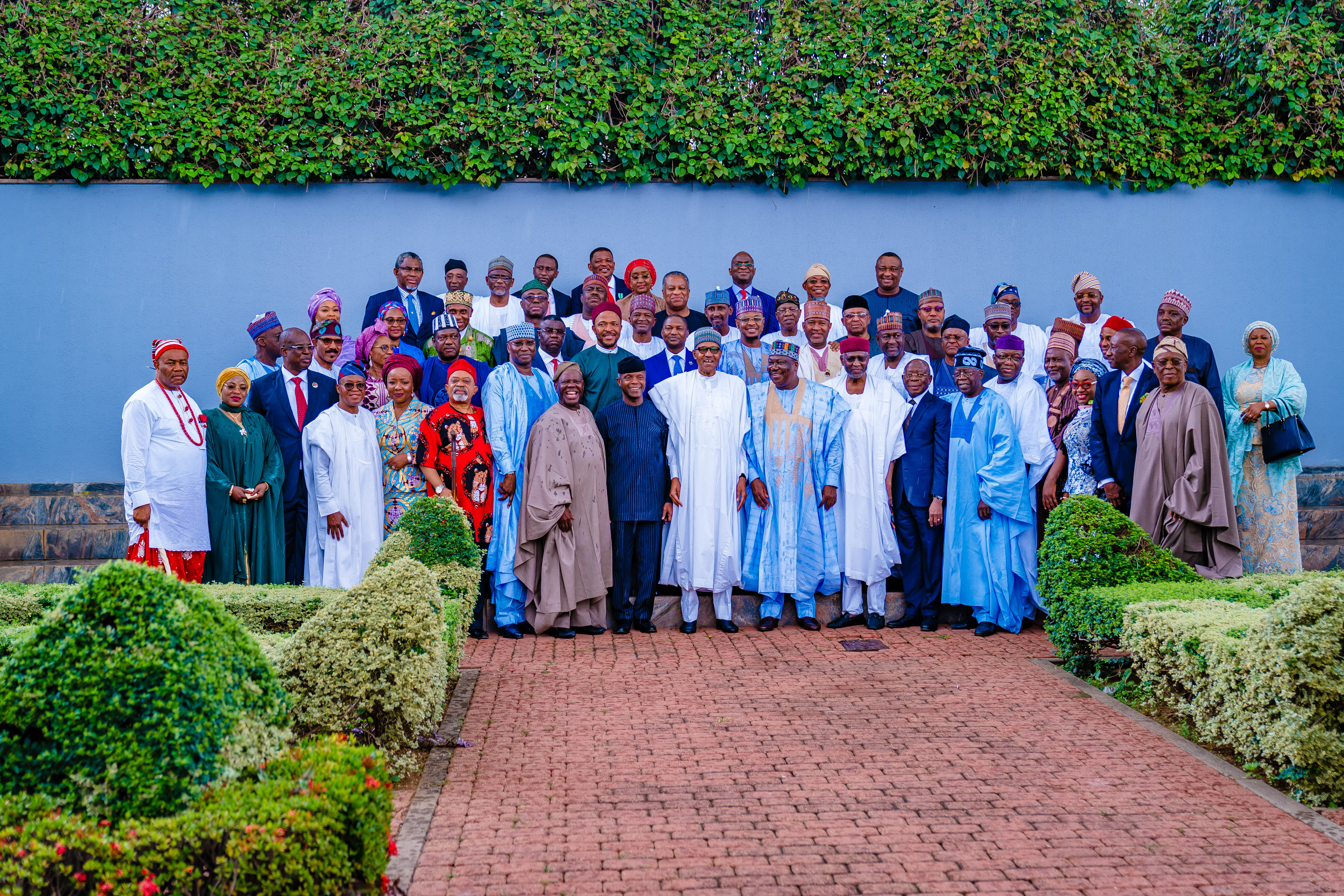 President Muhammadu Buhari Swears In 43 Ministers At The Presidential Villa On 21/08/2019
