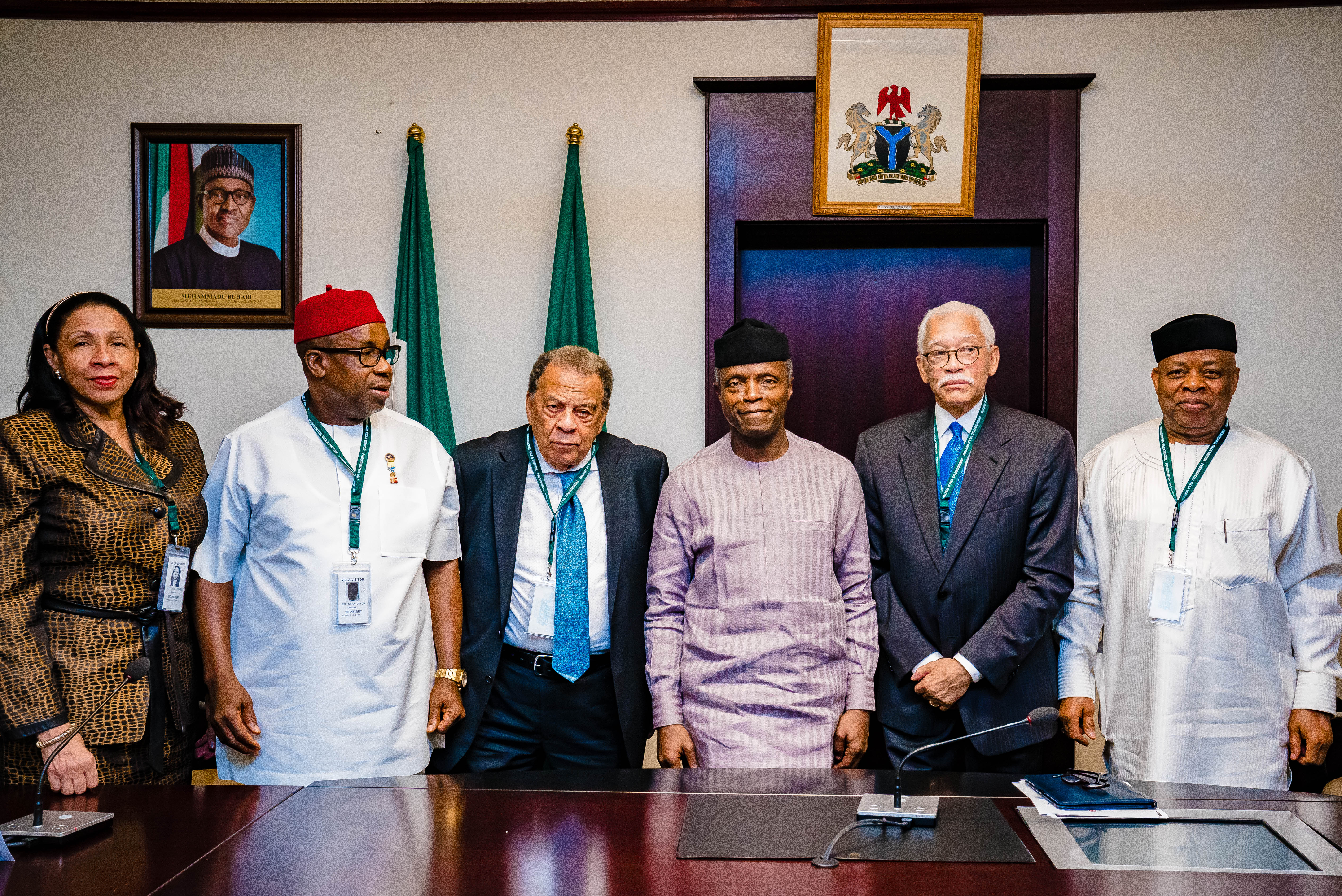 VP Osinbajo Receives Former United States Ambassador To The United Nations, Andrew Young On 23/08/2019