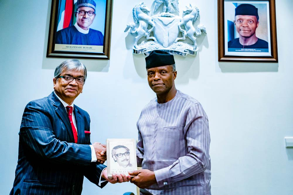 VP Osinbajo Receives Bangladesh High Commissioner, H.E Me Shameen Absan On 23/08/2019