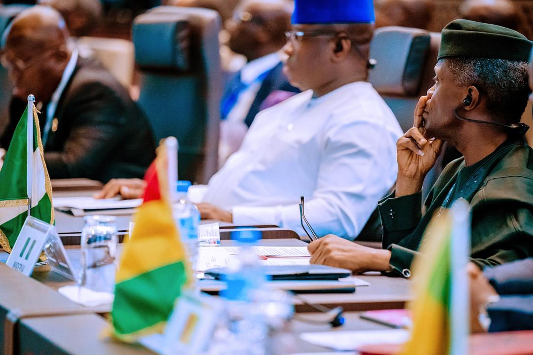 VP Osinbajo In Niamey For Extraordinary Summit Of Heads Of State & Government Of ECOWAS On 08/11/2019