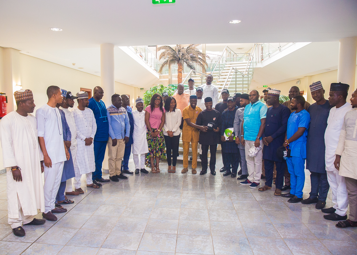 VP Osinbajo Receives Delegation From National Association Of Nigerian Students On 07/01/2020