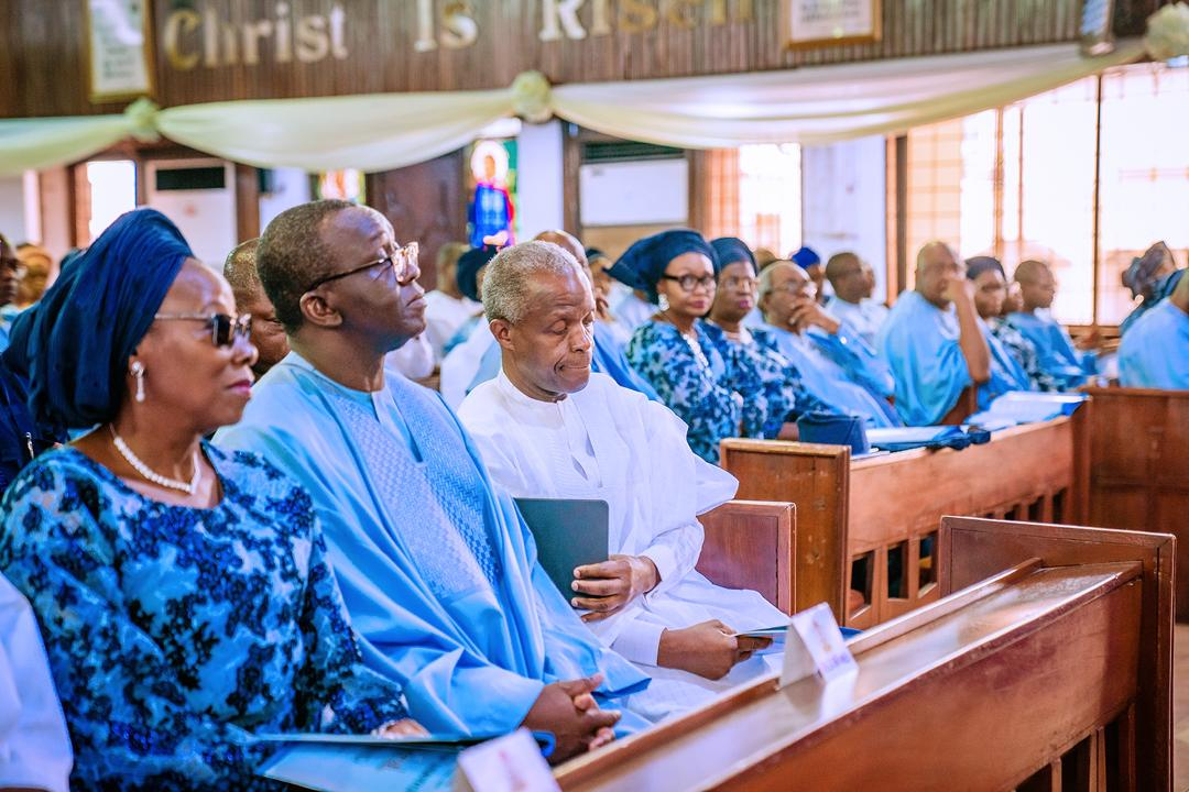 VP Osinbajo Attends Funeral Service Of Prof. Jonathan Dipeolu (Father Of Special Adviser To The President On Economic Affairs, Amb. Yemi Dipeolu) On 17/01/2020