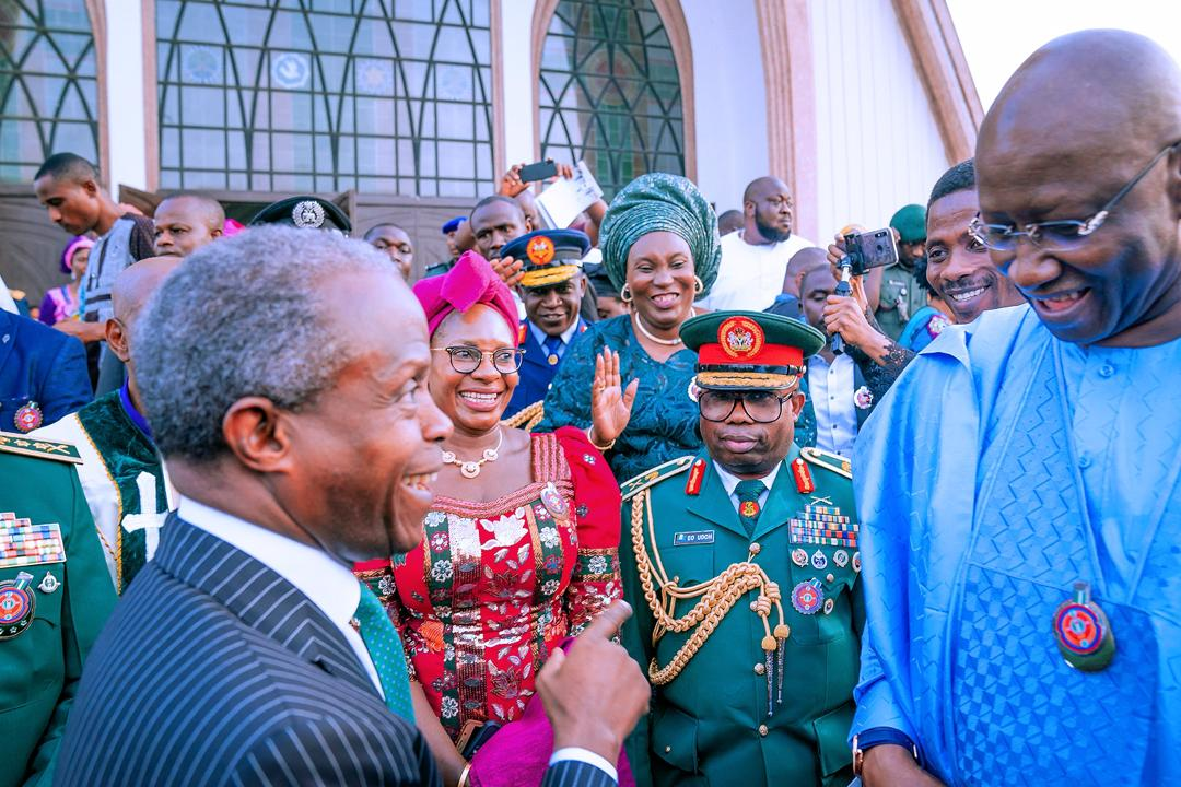 VP Osinbajo Attends Interdenominational Service For the Armed Forces Remembrance Day On 12/01/2020
