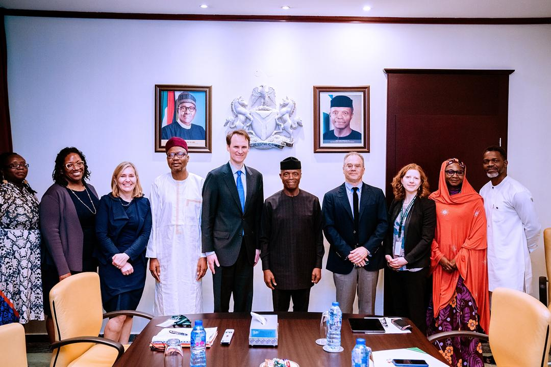 VP Osinbajo Receives The MacAuthur Foundation Led By Its President, John Palfry On 20/01/2020
