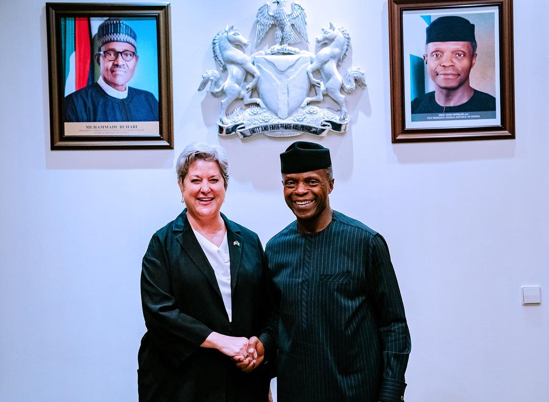 VP Osinbajo Receives The New American Ambassador To Nigeria, Ms. Mary Beth Leonard On 16/01/2020