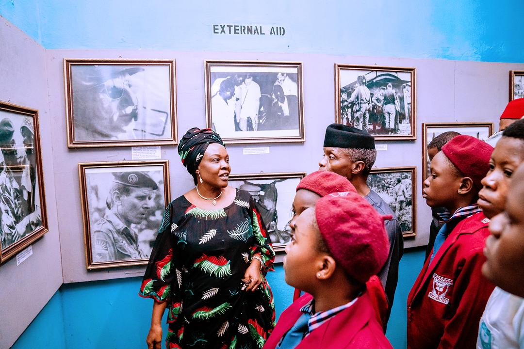 VP Osinbajo Visits National War Museum Commemorating 50 Years After Civil War, Attends Townhall Meeting With Stakeholders In Abia On 27/01/2020