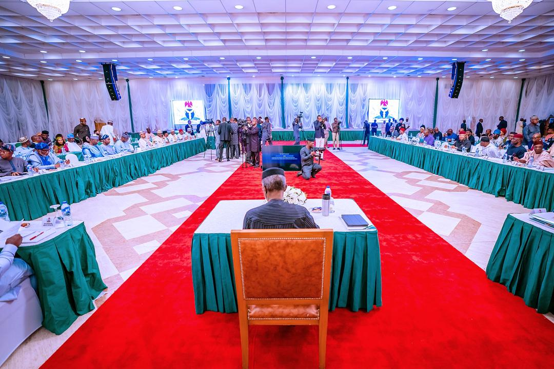 VP Osinbajo Presides Over National Economic Council Meeting On 23/01/2020