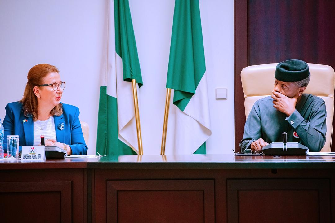 VP Osinbajo Receives In Audience, Turkish Minister Of Trade, H.E. Mrs. Ruhsar Pekcan On 14/01/2020